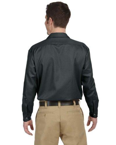 Dickies Men's Long-Sleeve Work Shirt (2 Pack - X-Large, Charcoal) by Dickies