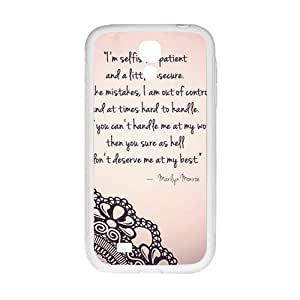 Marilyn Monroe Quote Phone Case for Samsung Galaxy S4 Case