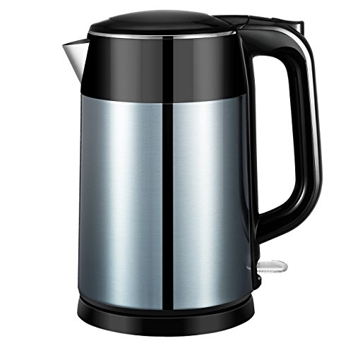 Electric Kettle, ElleSye 1.7 Liter Stainless Steel Kettle Fa