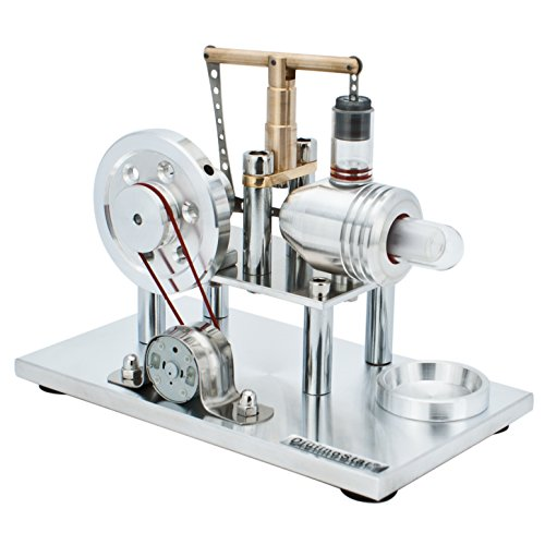 DjuiinoStar Super Stable Hot Air Stirling Engine(Solid Metal Construction), Electricity Generator(Light up LED), Ready to Run by DjuiinoStar (Image #3)