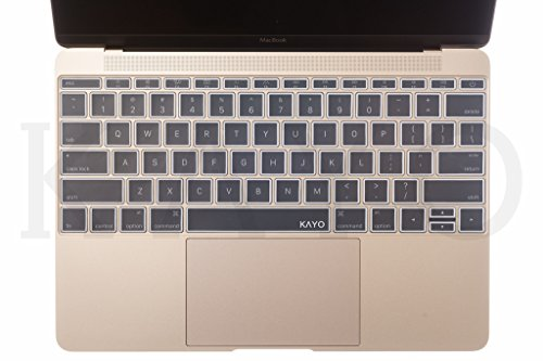 - KAYO Protective Keyboard Skin for MacBook 12 Inch with Retina Display A1534 (Newest Version 2017/2016/2015)- (WHITE)