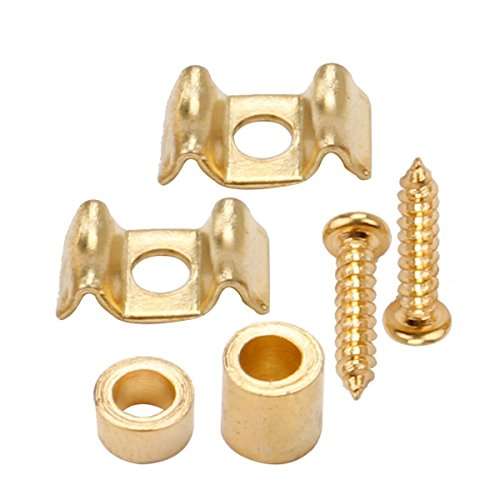 Musiclily Guitar Flat Wavy Strat String Guides Tree Retainer for