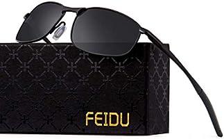 FEIDU Sportbrille Sonnenbrille Herren Polarisierte-HD Lens Metal Frame Driving Shades FD 9005