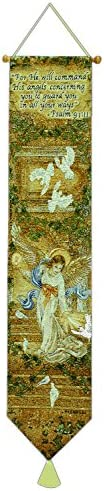 Manual Woodworkers Weavers Tapestry Bell Pull, Angel of Light