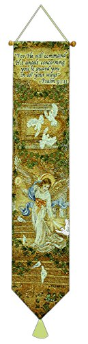 (Manual Woodworkers & Weavers Tapestry Bell Pull, Angel of Light)