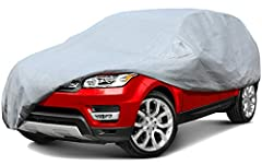 About Product This car cover is Breathable fabric allows for maximum air circulation under the cover, assures that any moisture or condensation under the cover can easily evaporate, and reduces heat on hot days. 100% waterproof seams.Seams ar...