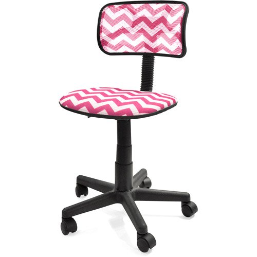 Amazon Your Zone Swivel Mesh Chair Pink Chevron Home Furniture fice Furnitures puter or Desk Chairs 1 touch Pneumatic Seat Height