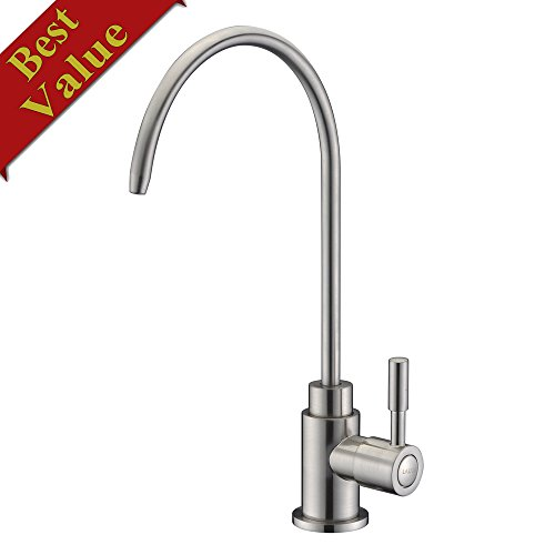 Best Buy! LAZADA Drinking Water Faucet,Solid Brass Single Handle Water Filtration Faucet Brushed Nic...