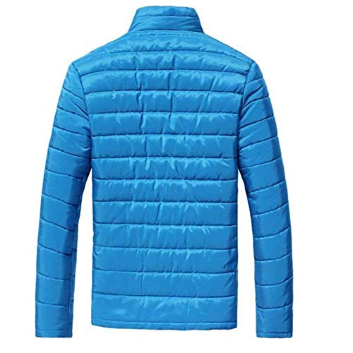Coat Young Outwear Winter Zipper Jacket Jacket Sleeve Blau with Zipper Down Men's Jacket Fashion Short Long Bz4OwO