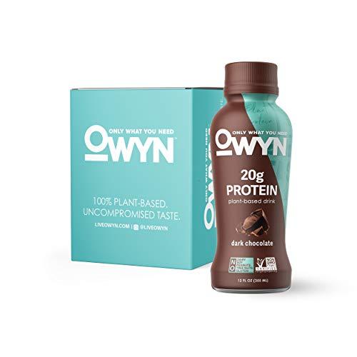 (OWYN, Vegan Protein Shake, Dark Chocolate,12 Fl Oz (Pack of 4), 100-Percent Plant-Based, Dairy-Free, Gluten-Free, Soy-Free, Tree Nut-Free, Egg-Free, Allergy-Free, Vegetarian, Kosher )