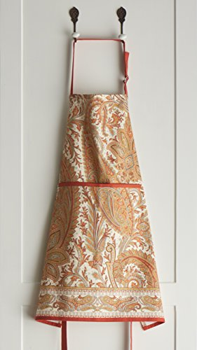 Maison d' Hermine Kashmir Paisley 100% Cotton Apron with an adjustable neck & hidden center pocket, 27.50 - inch by 31.50 - inch by Maison d' Hermine (Image #4)