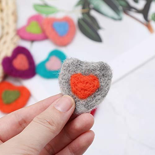 Welding Equipment Photography Props Felt Ball Handmade Multi-functional Baby Heart Shape Woolen Diy Decoration