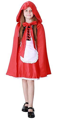 BOZEVON Niños Capa con Capucha Robe medieval Fiesta de Halloween del mantón Cosplay