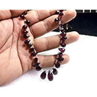 JEWEL BEADS Beautiful jewelry AAA++ Quality Rhodolite Garnet Beads Teardrop Shape Faceted Beads 135 Carat Size 9x6 To 14x8 mm 8.5 Inches Rhodolite Gemstone Beads 1 Stands Code- UKA-10394