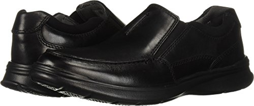 Slip Leather Clarks - Clarks Men's Cotrell Free Shoe, black smooth leather, 9 M US