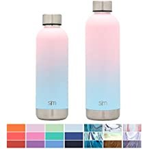 Simple Modern Bolt Water Bottle - Vacuum Insulated Narrow Mouth 18/8 Stainless Steel Powder Coated