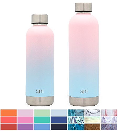 Simple Modern 17oz Bolt Water Bottle - Stainless Steel Hydro Swell Flask - Double Wall Vacuum Insulated Reusable Small Kids Metal Coffee Tumbler Leak Proof Thermos - Sweet Taffy by Simple Modern