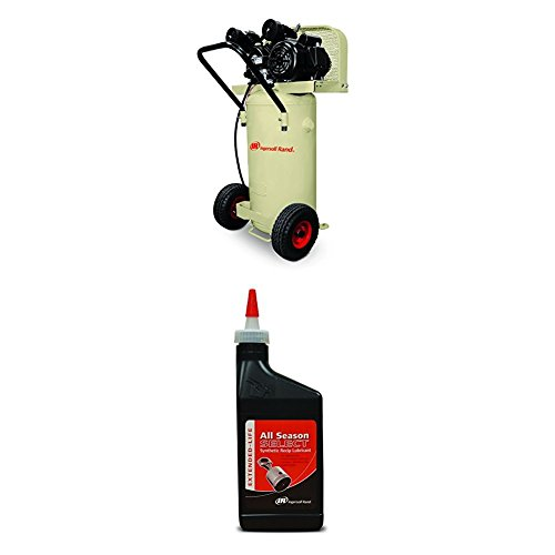 Garage Mate P1.5IU-A9 2 HP 20 Gallon Single Stage Portable Air Compressor (115V, Single Phase) and Synthetic Lubricant