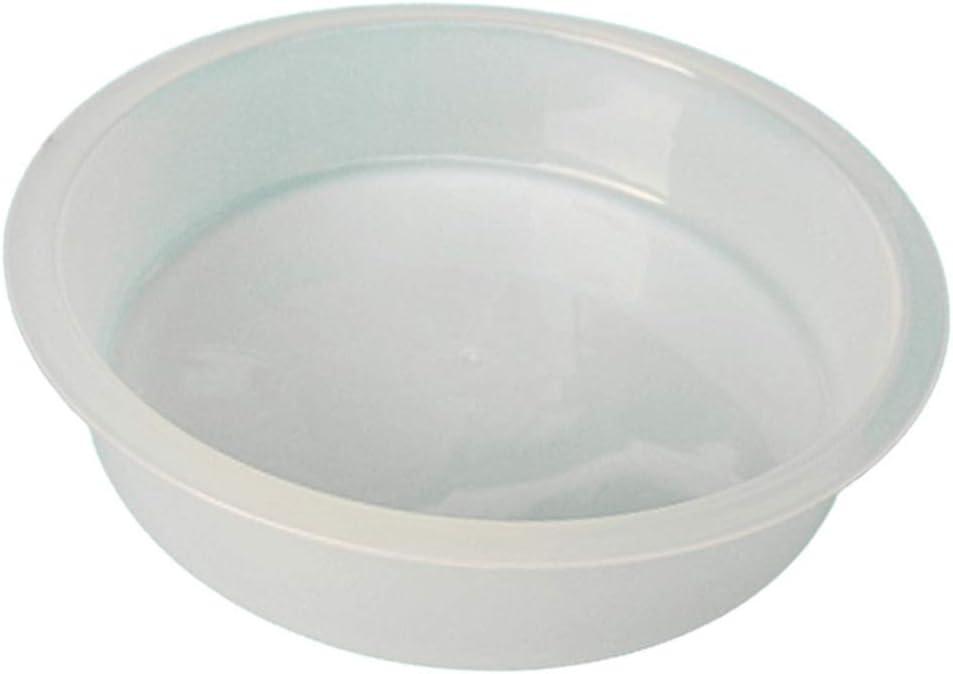 homozy White Plastic Birds Feeding Station Bath Tray