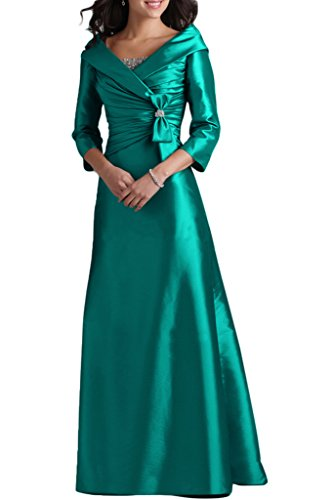 Lang 3 Abendkleid V A 4 Liebling Grün Aermel Abendkleid Ivydressing Damen Mutterkleid Ausschnitt Taft Linie Festkleid Bqw46Az