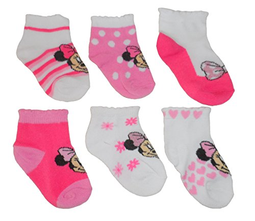 Disney Baby Girls' Minnie Mouse Socks 6 pk
