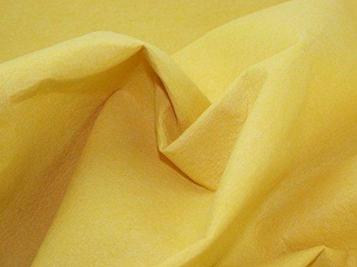 Sticky Back Self Adhesive Acrylic Felt Fabric Yellow - per 25 metre roll