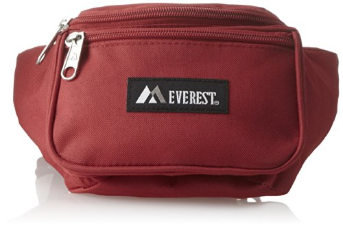 Everest Signature Waist Pack - Standard, Red, One Size (3 Pocket Fanny Pack)