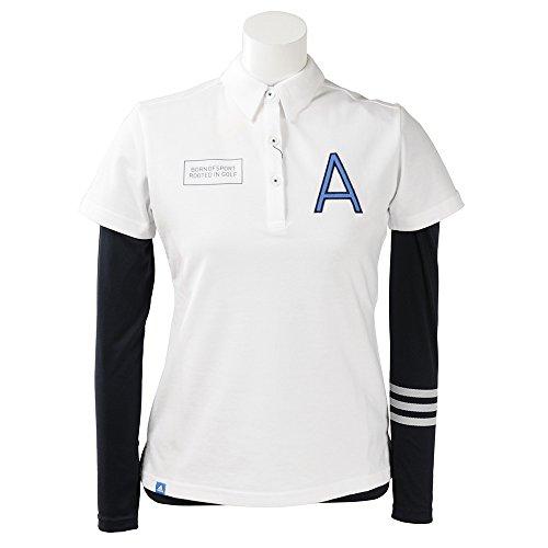 アディダス Adidas 半袖シャツ?ポロシャツ ADICROSS Aロゴ レイヤード半袖シャツ レディス ホワイト S