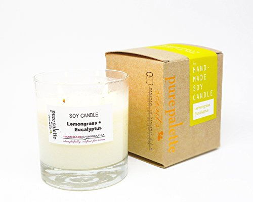 Lemongrass Eucalyptus Spa Soy Candle Handmade in Virginia, U.S.A