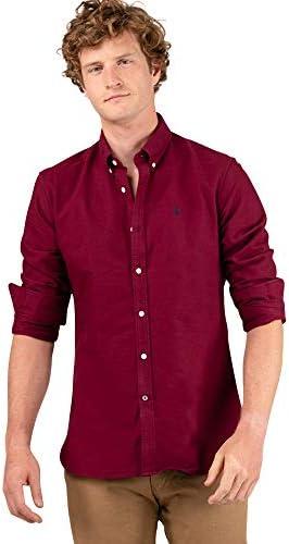 El Ganso 1 Camisa casual, Rojo (Granate 0048), Large para ...
