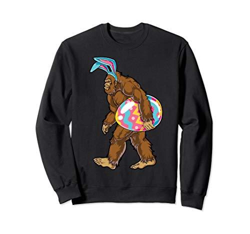 Bigfoot Easter Bunny Sweatshirt Sasquatch Ears Egg Gift Men]()