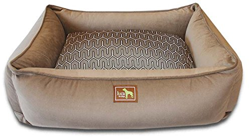 Luca For Dogs Lounge Dog Bed w Easy-Wash Cover