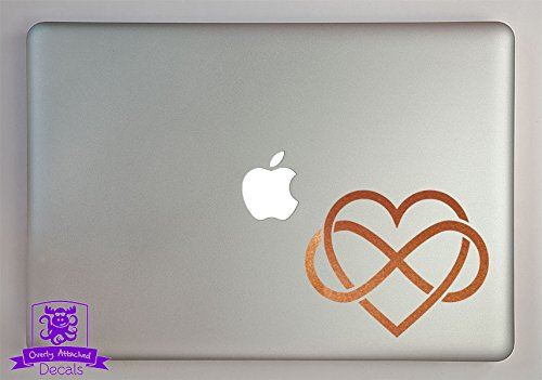 - Overly Attached Decals Heart With Infinity Knot Vinyl Decal Sized To Fit A 15