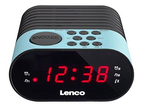 Lenco CR-07 Horlogeradio met led-display, 2 wektijden, dual alarm, slaaptimer, sluimerfunctie, in 3 kleuren
