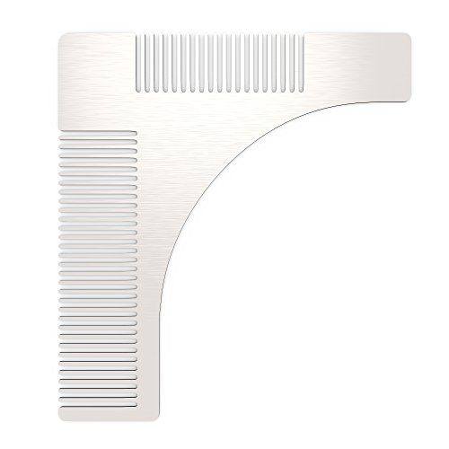 Beard Comb Shaping Tool, Gvoo Stainless Steel Mustache Beard Styling Trimming Shaping Grooming Template for Perfect - Face For Different Shapes Styles Beard