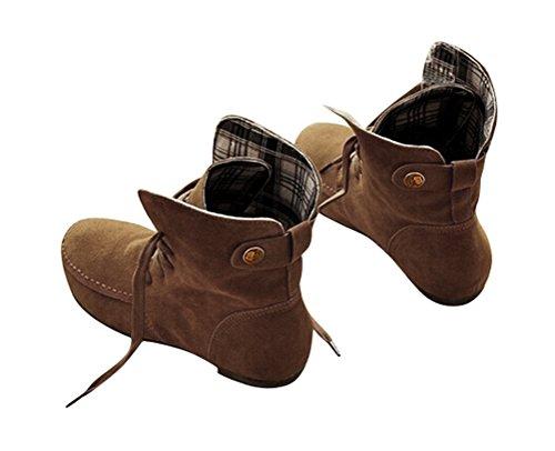 12 Choix taille Bottes Suede Bottines Femme Lacets 33 couleur Mixed Chaussures Taille Multi Plat Brinny Grande mollet à Multi Doublé et mi 44 Taille au Martin Chaud Kaki Adult HBxPY