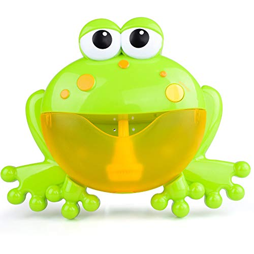 Room Magic Tea Set - Weite Baby Bath Bubble Toy Bubble Frog Bubble Blower Bubble Machine Bubble Maker 12 Nursery Rhymes Bathtub Bubble Toys Infant Baby Children Kids Happy Tub Time (Green)