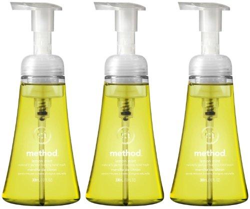 (Method Limited Edition Foaming Hand Wash, Lemon Mint, 10oz (Pack of 3))