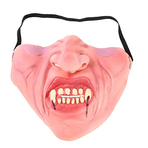 Tinksky Funny Latex Half Face Masks Horrible Scary Mask Cosplay Costume for Halloween Party (Scary Zombie Costumes Ideas)