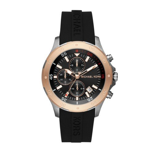 Michael Kors Men's Quartz Stainless Steel and Silicone Ca...
