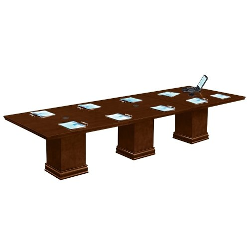 National Office Furniture Cherry Desk (Deep Walnut 12' Conference Table - NBF Signature Series Extendable Tables Collection)