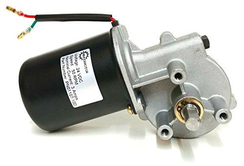 Makermotor 10mm D Shaft Electric Gear Motor 24v Low Speed 50 RPM Gearmotor DC