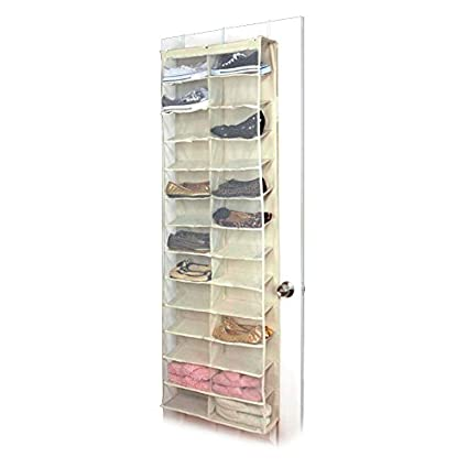 26 Pair Over Door Hanging Shoe Organiser Storage Rack Shelf Stand Pocket Holder Shopmonk