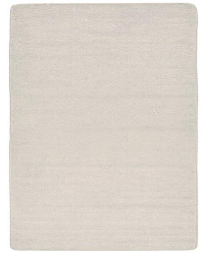 Euro Collection Solid Color Area Rug Rugs Slip Skid Resistant Rubber Backing Machine Washable More Color Options Available (Ivory, 3