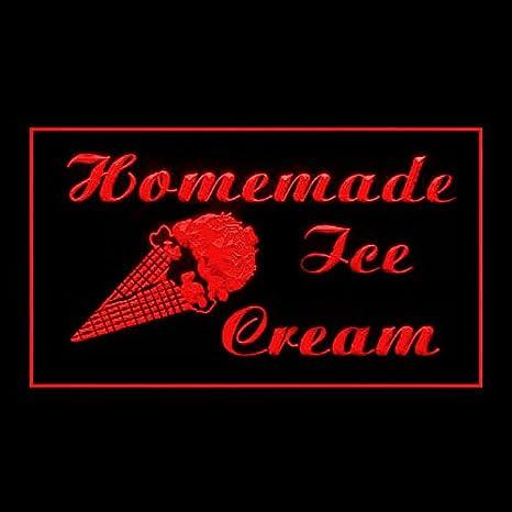 110260 Home Made Ice Cream Gelato Italian Sundae Display LED Light Sign
