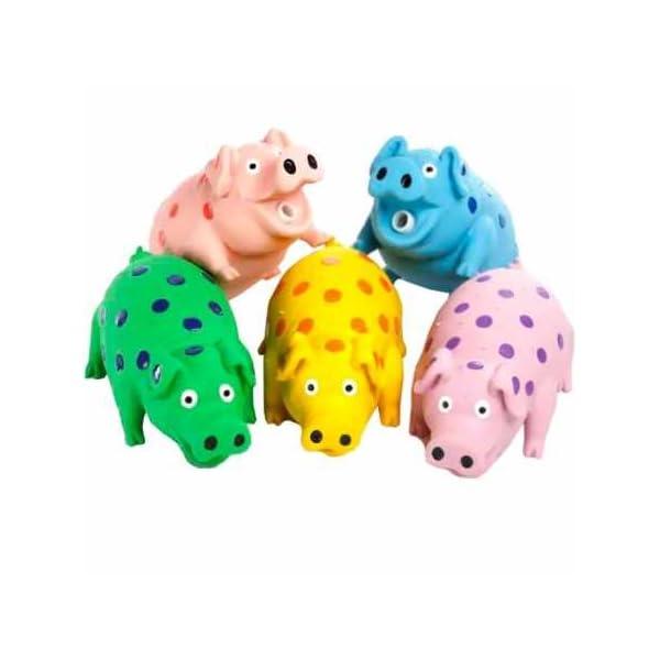 Multipet 9″ Latex Polka Dot Goblet Pig Dog Toy (Assorted)