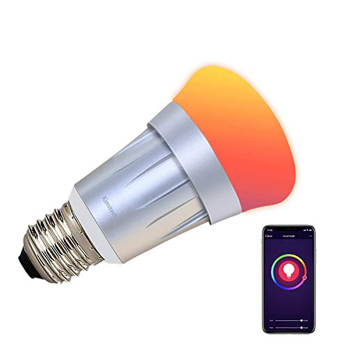 Kimitech Smart WiFi LED Light Bulb, A19 Smartphone Control and Voice Control by Alexa Apple HomeKit and Google Assistant