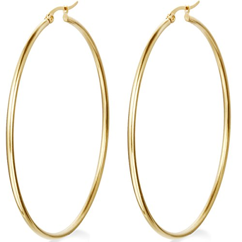 Flongo Womens Stainless Anti allergy Earrings