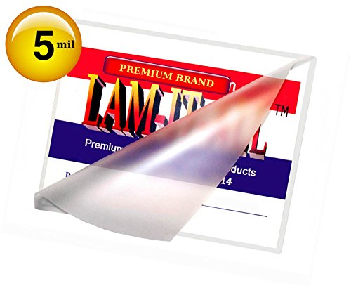 ting Pouches 5 Mil 3-1/2 X 5-1/2 [Pack of 100] by LAM-IT-ALL (Lam Card)