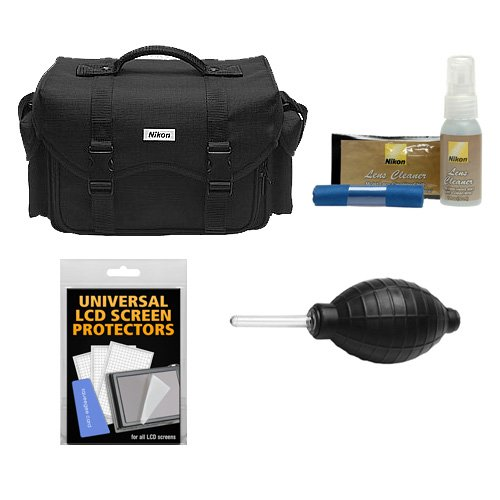 Nikon 5874 Digital SLR Camera System Case, Gadget Bag with Nikon Cleaning Kit for D3300, D3400, D5500, D5600, D7200, D7500, D610, D750, D810, D850, D5